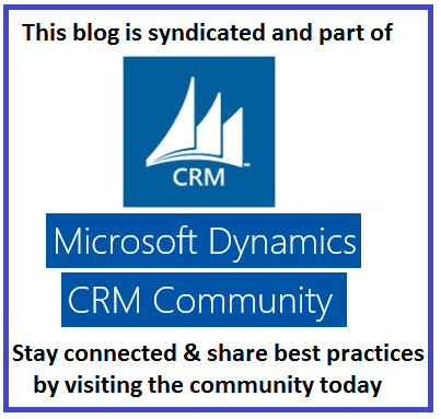 Authorised Microsoft Dynamics CRM Community Blog